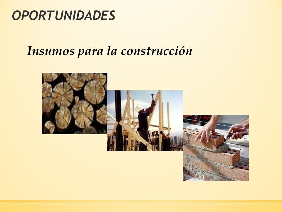 OPORTUNIDADES Insumos para la construcción
