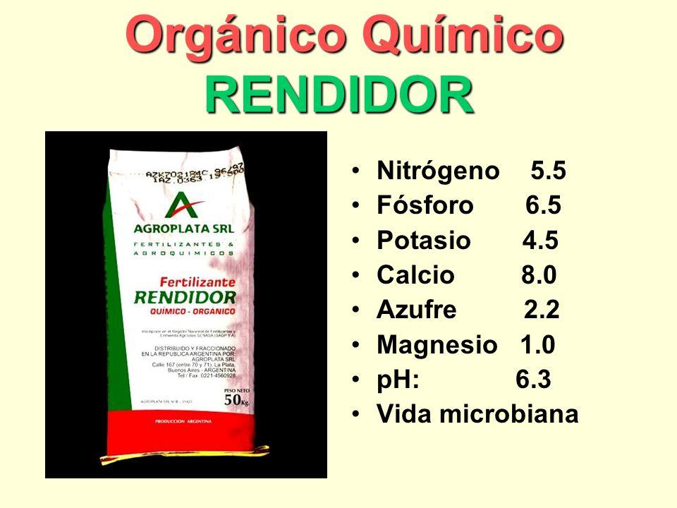 Orgánico Químico RENDIDOR