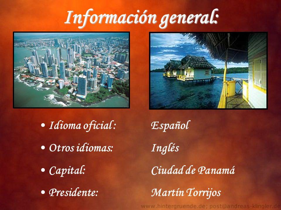 Información general: Idioma oficial : Español Otros idiomas: Inglés
