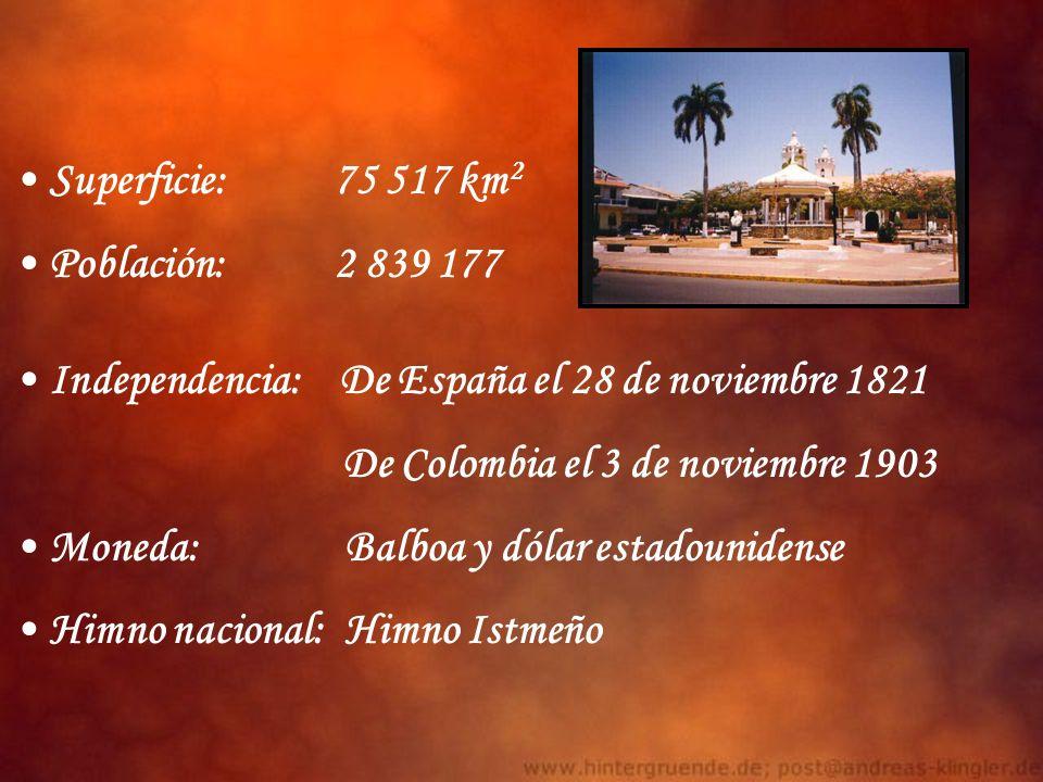 Superficie: 75 517 km2 Población: 2 839 177. Independencia: De España el 28 de noviembre 1821.