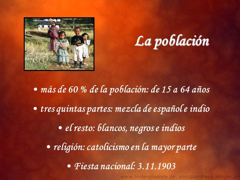 La población más de 60 % de la población: de 15 a 64 años