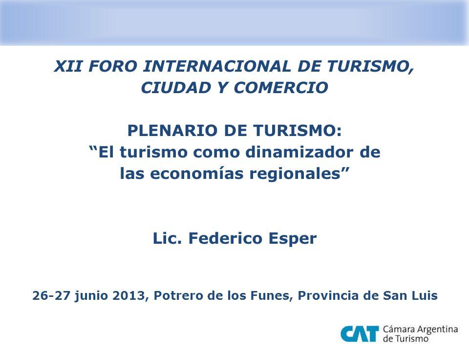 XII FORO INTERNACIONAL DE TURISMO, CIUDAD Y COMERCIO