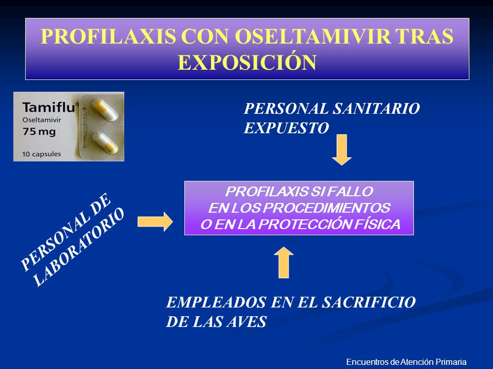 PROFILAXIS CON OSELTAMIVIR TRAS EXPOSICIÓN O EN LA PROTECCIÓN FÍSICA