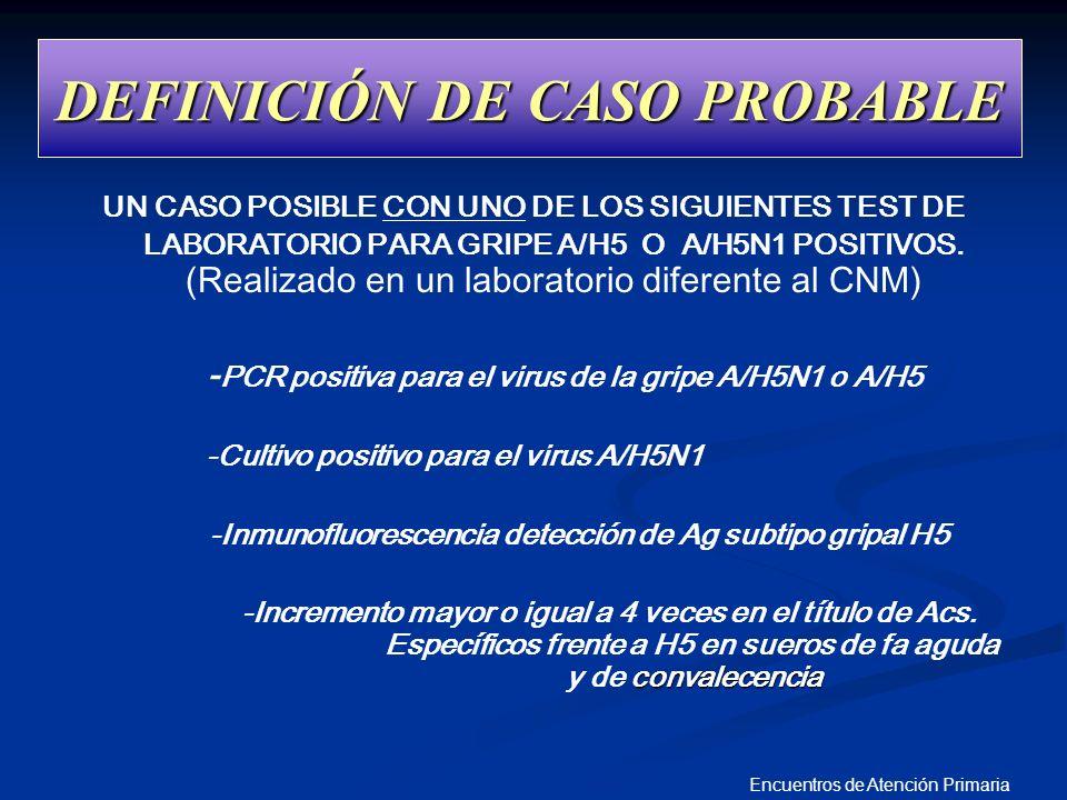 DEFINICIÓN DE CASO PROBABLE