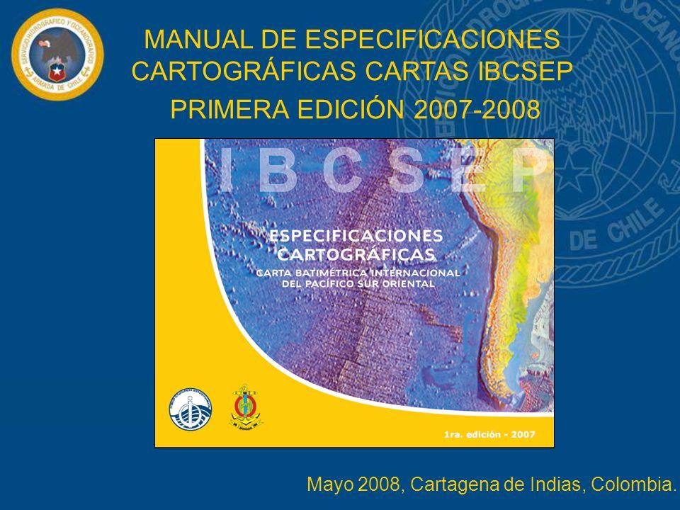 MANUAL DE ESPECIFICACIONES CARTOGRÁFICAS CARTAS IBCSEP