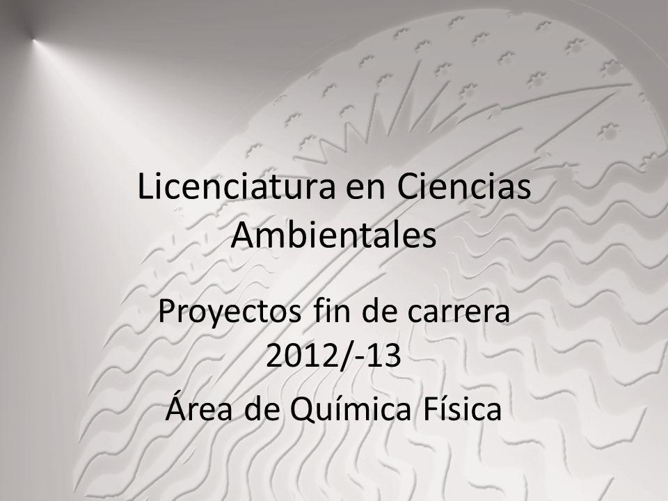 Licenciatura en Ciencias Ambientales