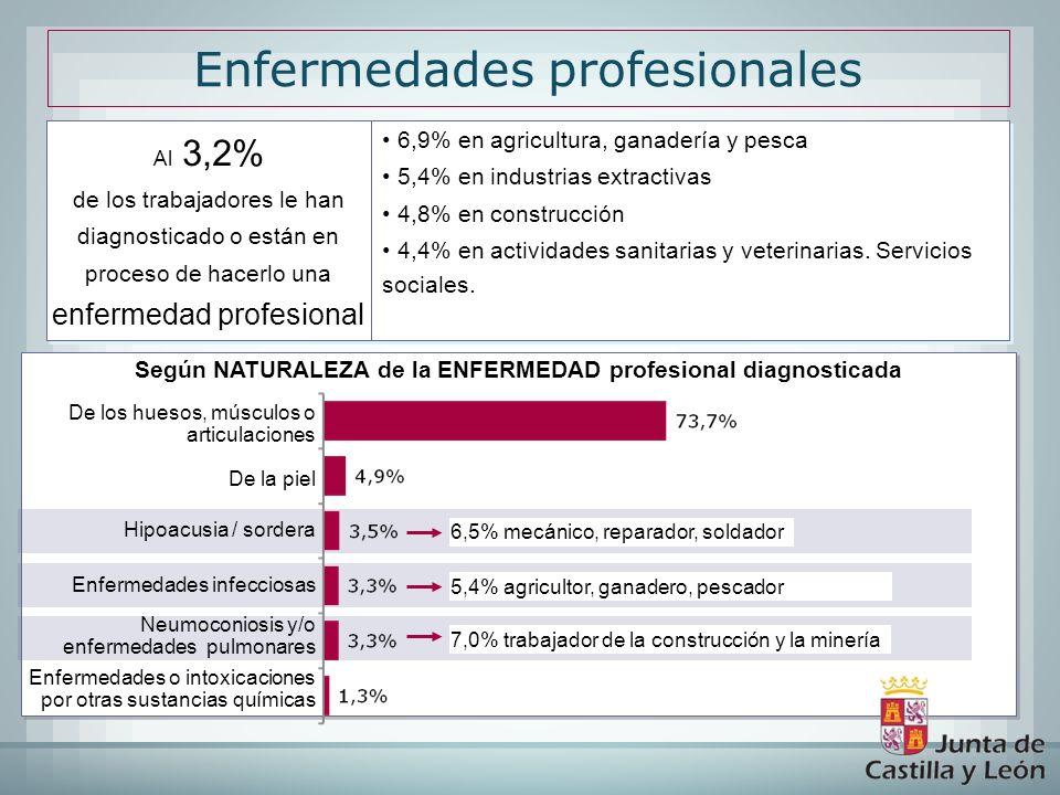 Según NATURALEZA de la ENFERMEDAD profesional diagnosticada