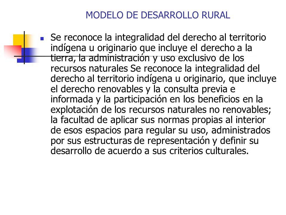 MODELO DE DESARROLLO RURAL