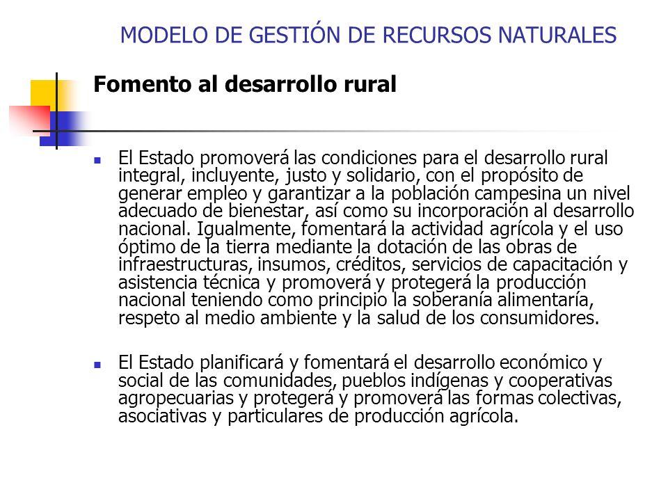 MODELO DE GESTIÓN DE RECURSOS NATURALES