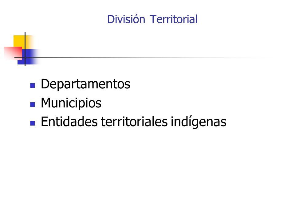 Entidades territoriales indígenas