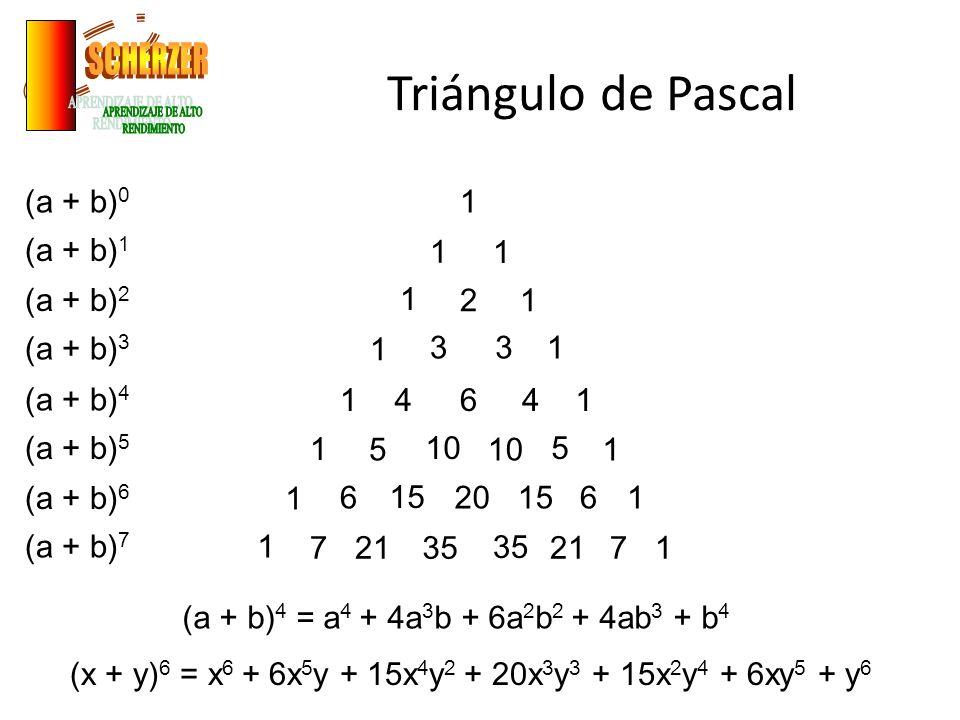 Triángulo de Pascal SCHERZER APRENDIZAJE DE ALTO RENDIMIENTO (a + b)0