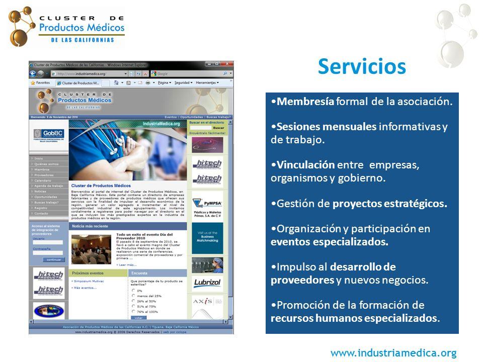 Servicios Membresía formal de la asociación.