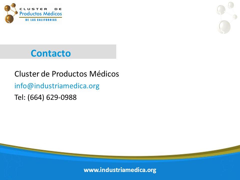 Contacto Cluster de Productos Médicos info@industriamedica.org