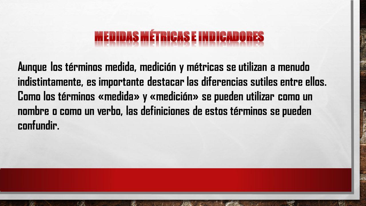 Medidas métricas e indicadores