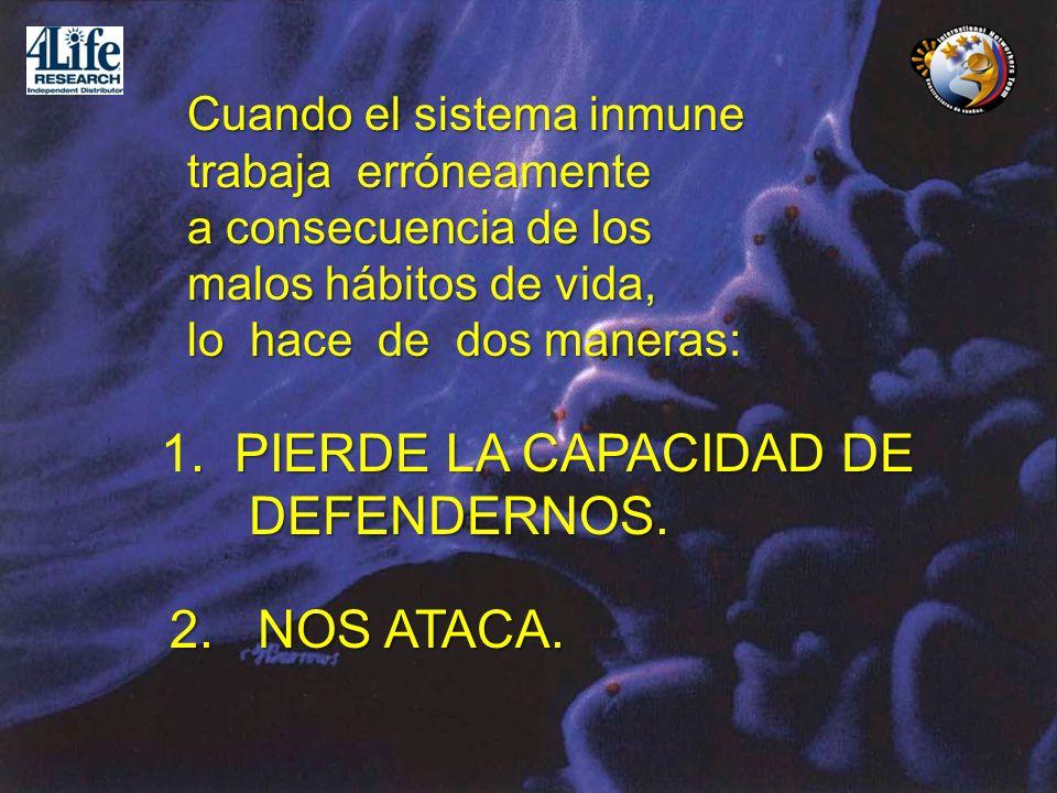 1. PIERDE LA CAPACIDAD DE DEFENDERNOS. 2. NOS ATACA.