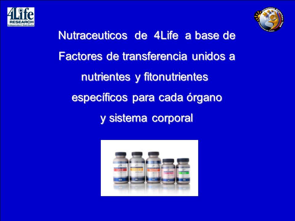 Nutraceuticos de 4Life a base de Factores de transferencia unidos a