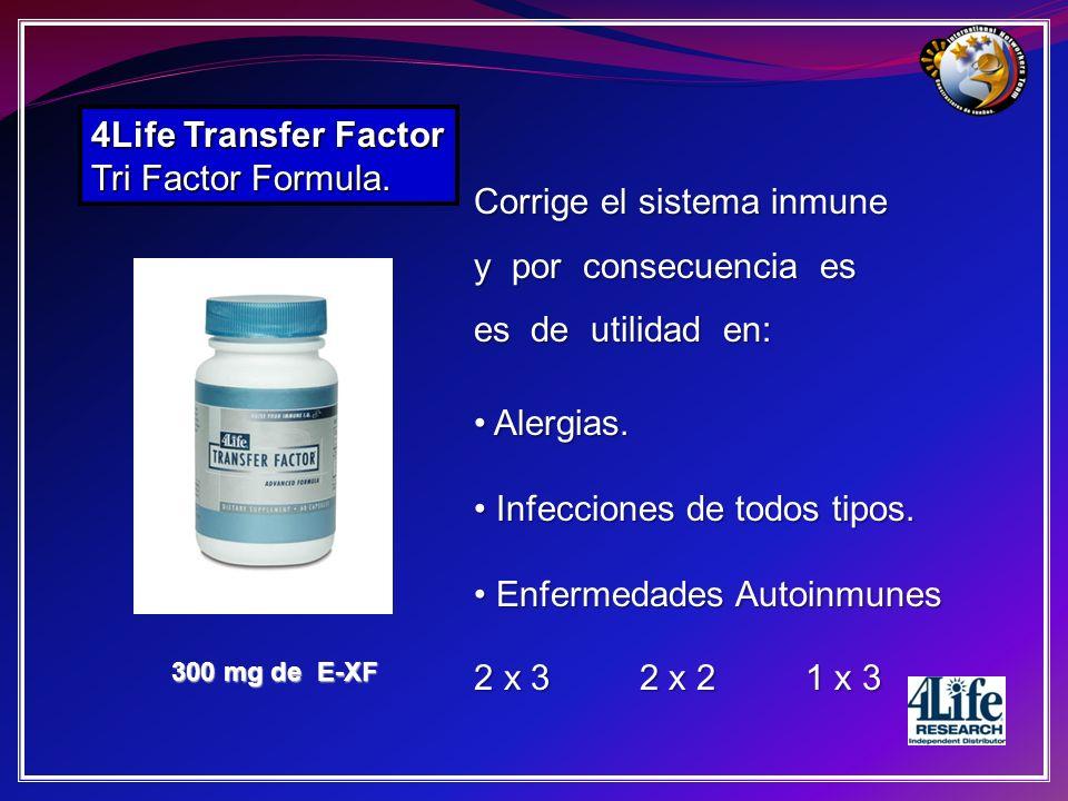 Corrige el sistema inmune y por consecuencia es es de utilidad en: