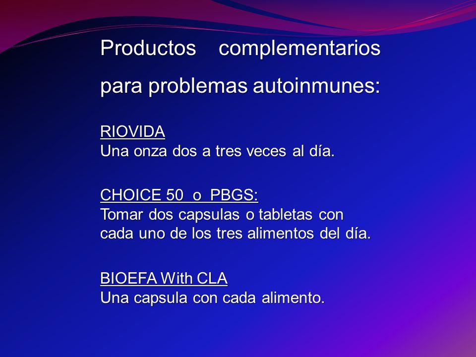 Productos complementarios para problemas autoinmunes: