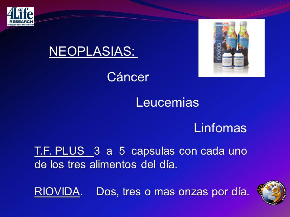 NEOPLASIAS: Cáncer Leucemias Linfomas