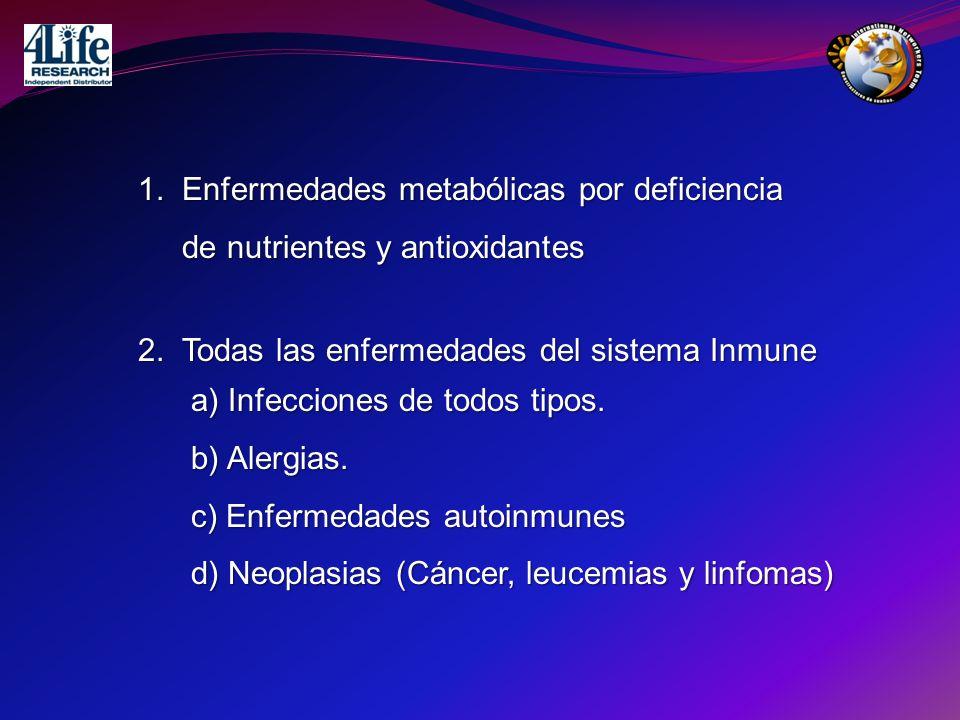 1. Enfermedades metabólicas por deficiencia