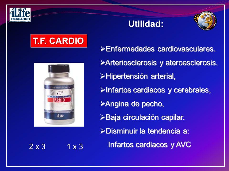 Utilidad: T.F. CARDIO Enfermedades cardiovasculares.