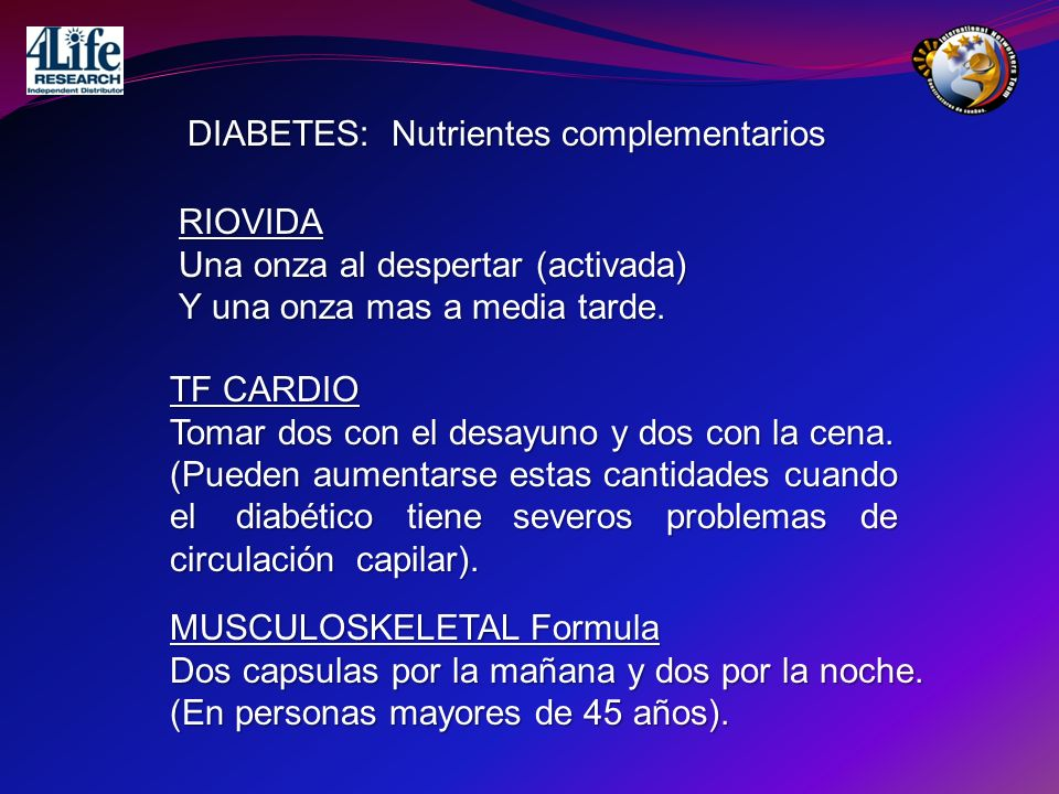 DIABETES: Nutrientes complementarios