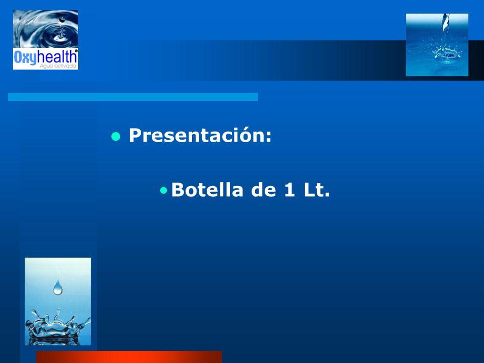 Presentación: Botella de 1 Lt.