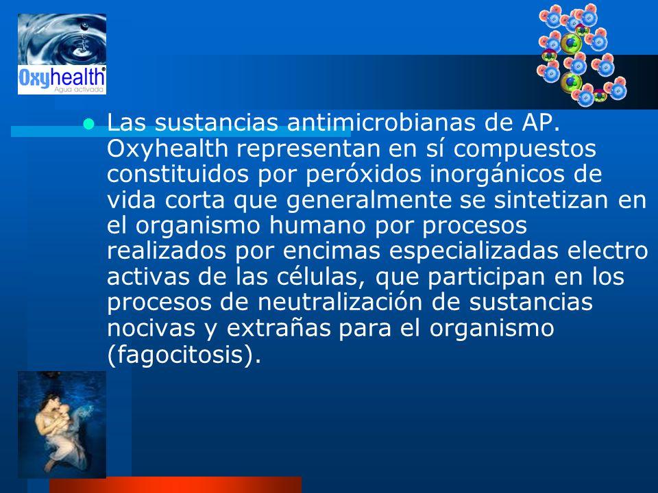 Las sustancias antimicrobianas de AP
