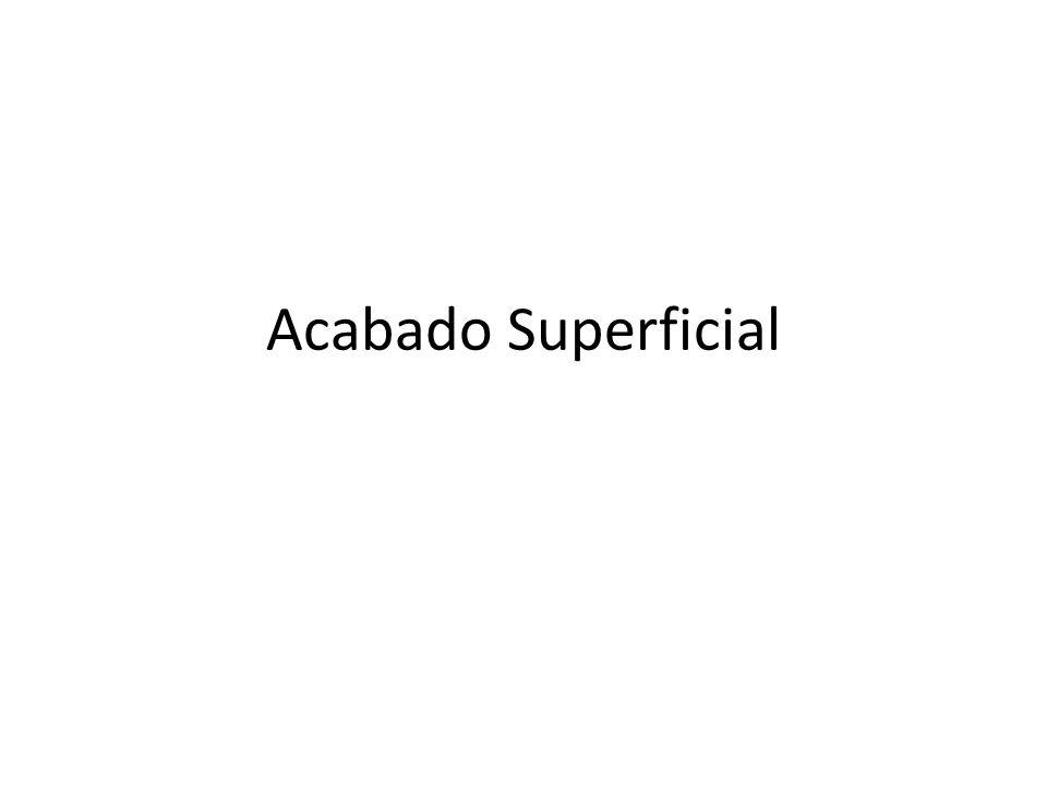 Acabado Superficial