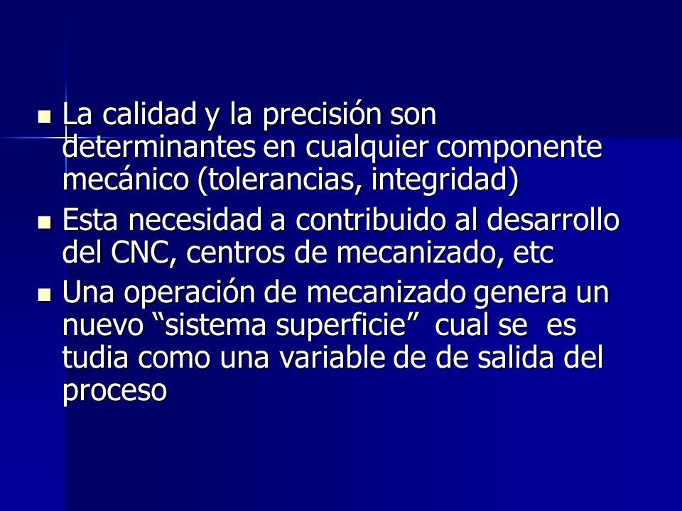 La calidad y la precisión son determinantes en cualquier componente mecánico (tolerancias, integridad)