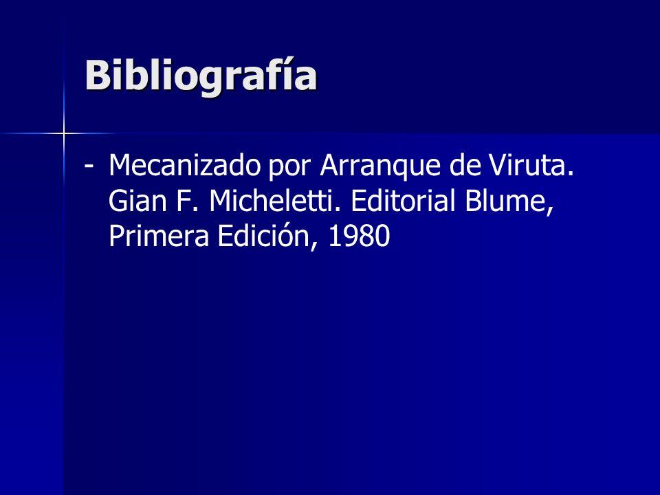 Bibliografía Mecanizado por Arranque de Viruta. Gian F.