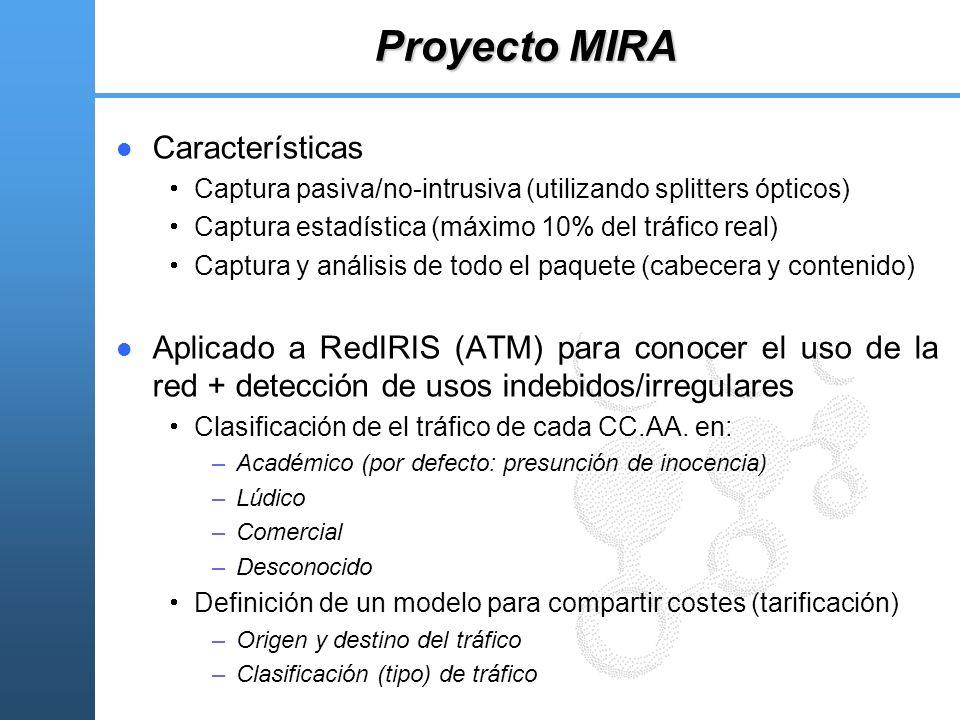 Proyecto MIRA Características