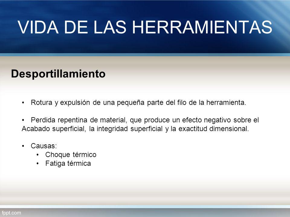 VIDA DE LAS HERRAMIENTAS