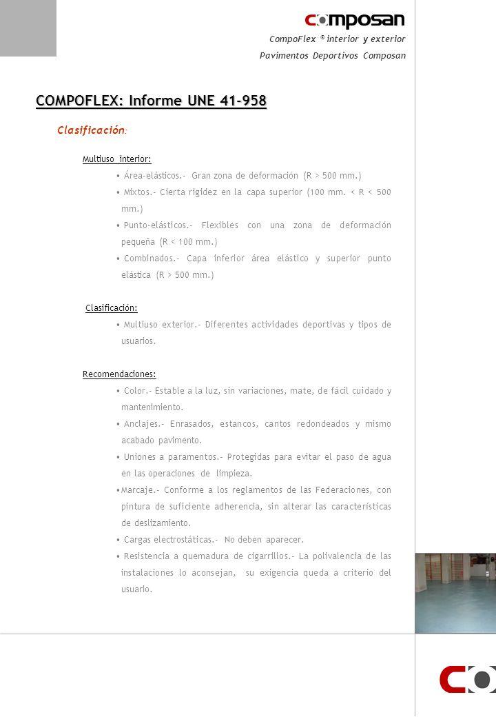 COMPOFLEX: Informe UNE 41-958