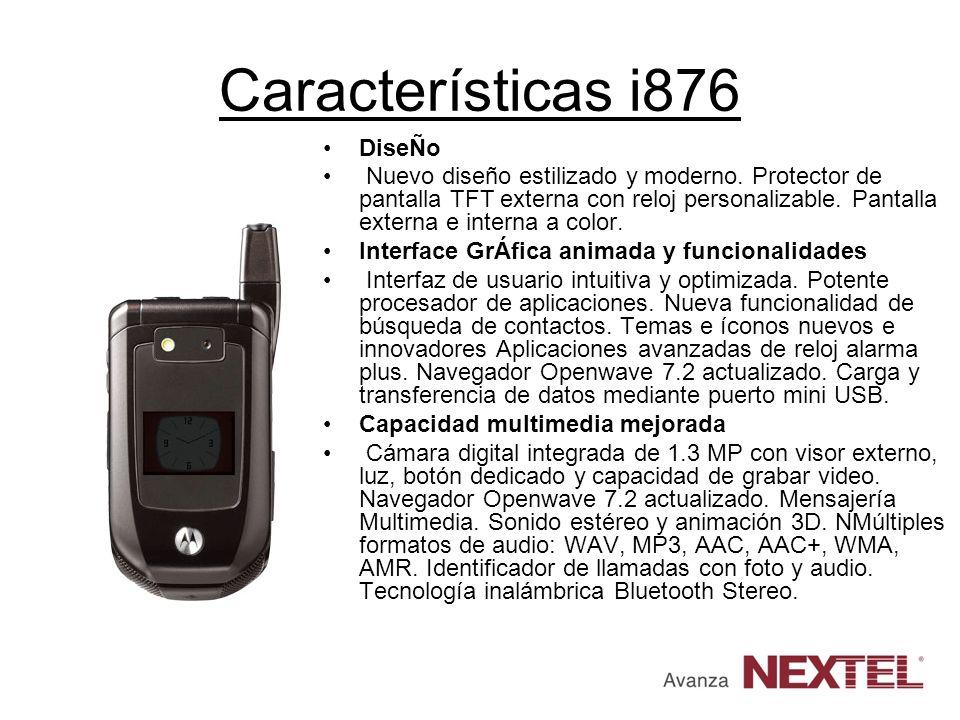 Características i876 DiseÑo