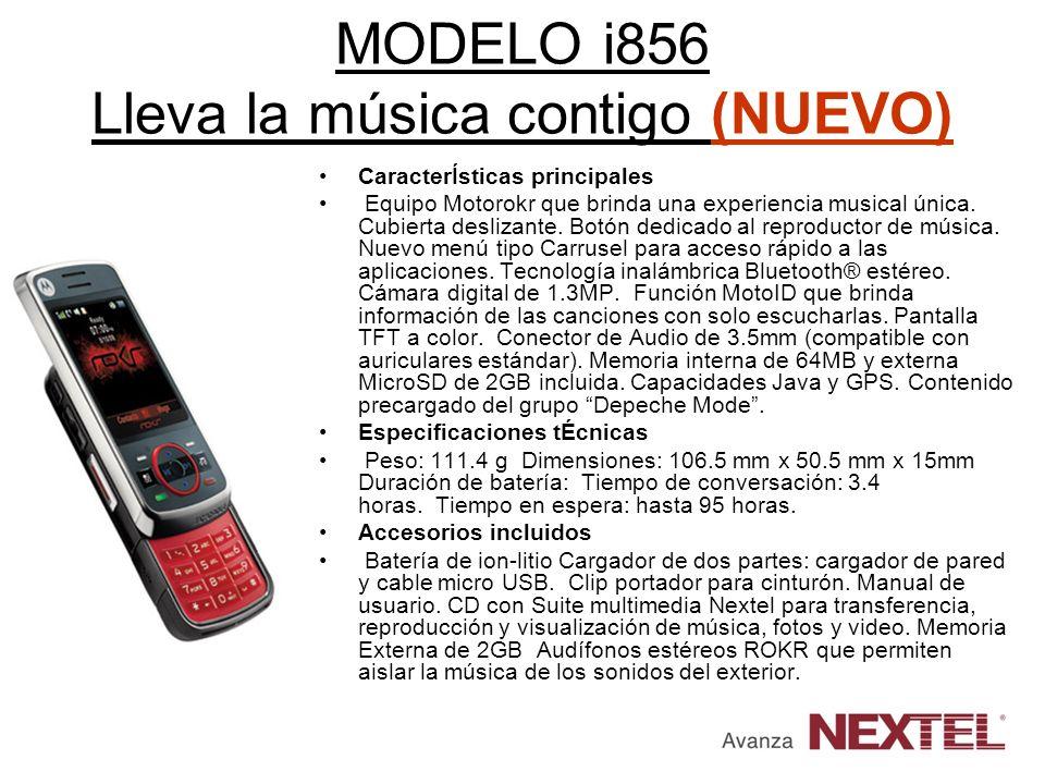 MODELO i856 Lleva la música contigo (NUEVO)