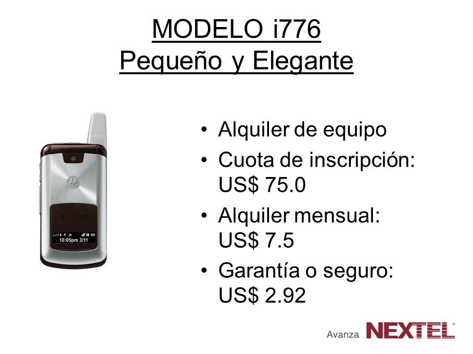 MODELO i776 Pequeño y Elegante