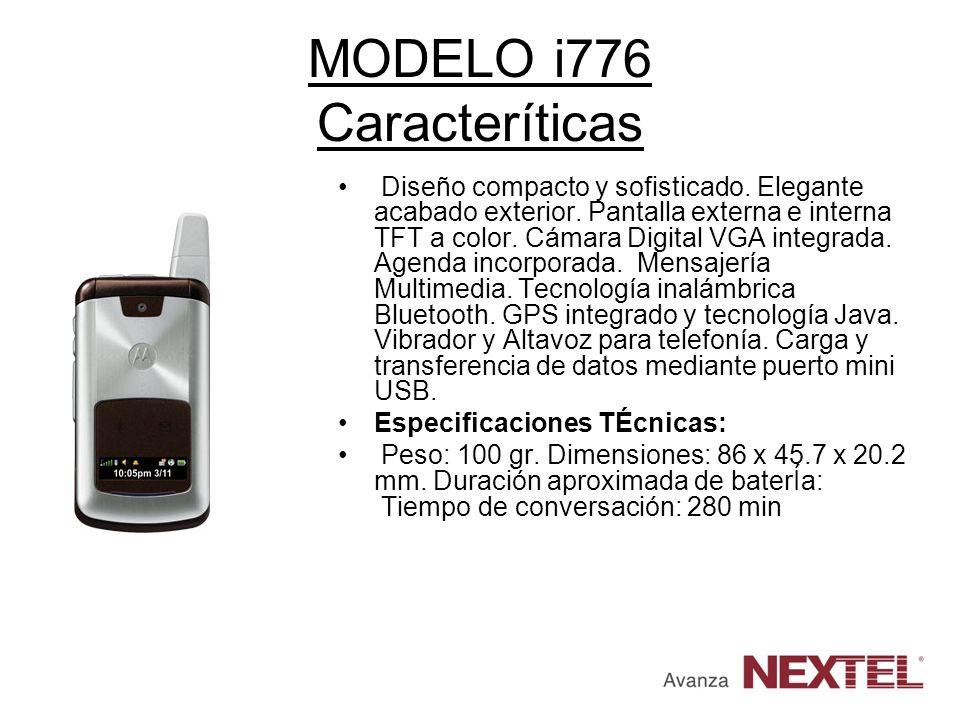 MODELO i776 Caracteríticas