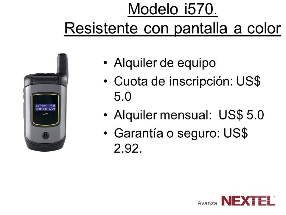 Modelo i570. Resistente con pantalla a color