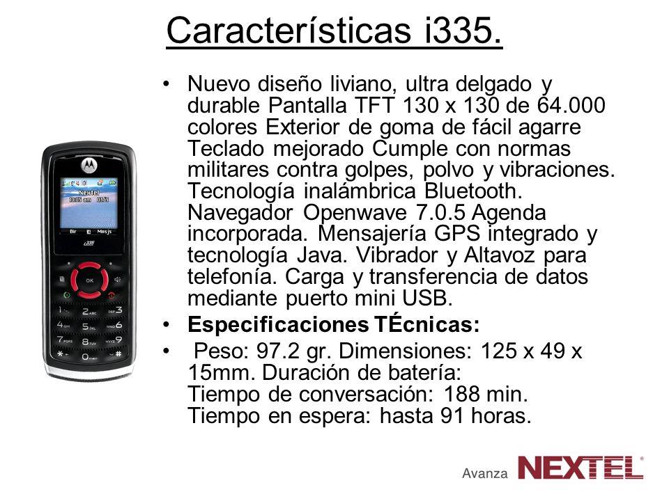 Características i335.