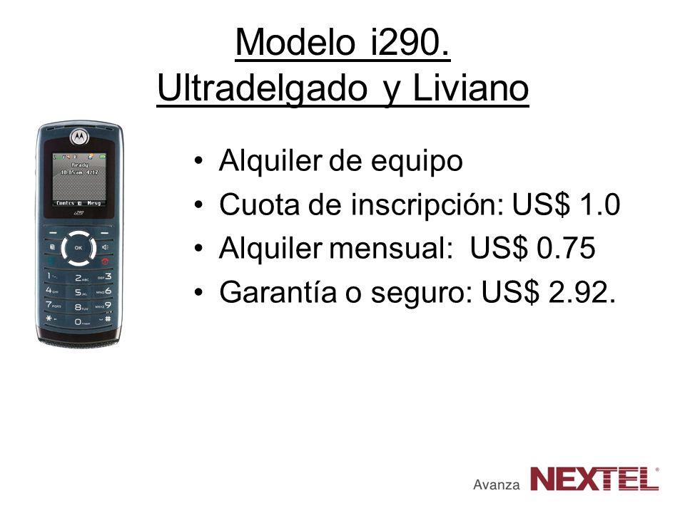 Modelo i290. Ultradelgado y Liviano