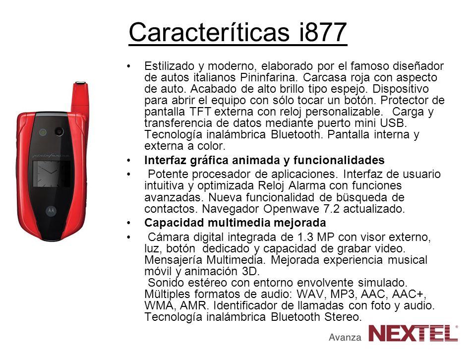 Caracteríticas i877