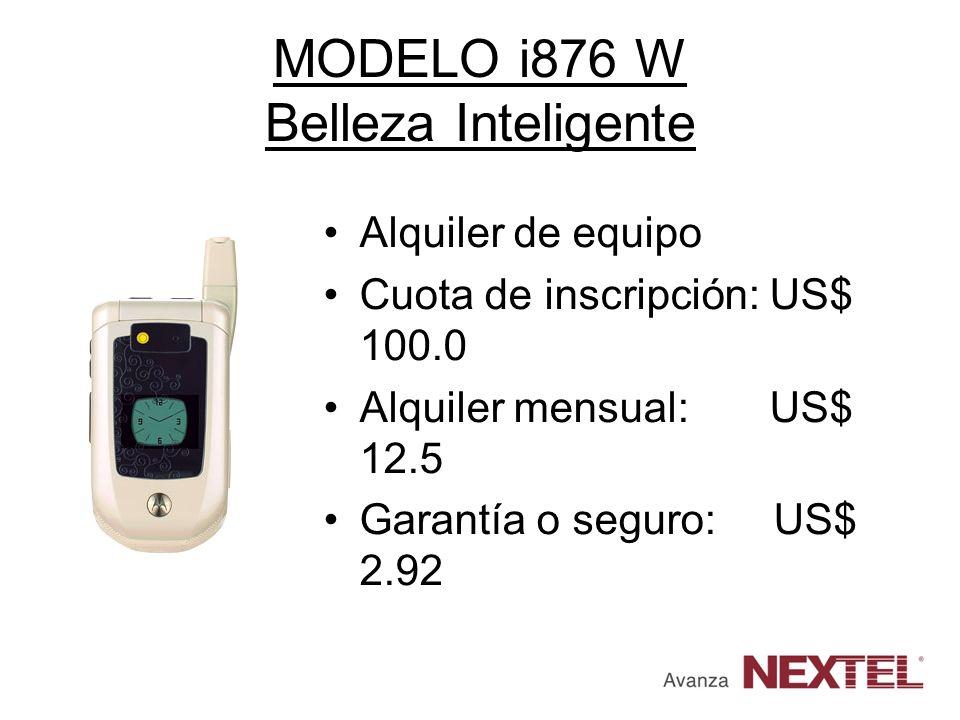 MODELO i876 W Belleza Inteligente