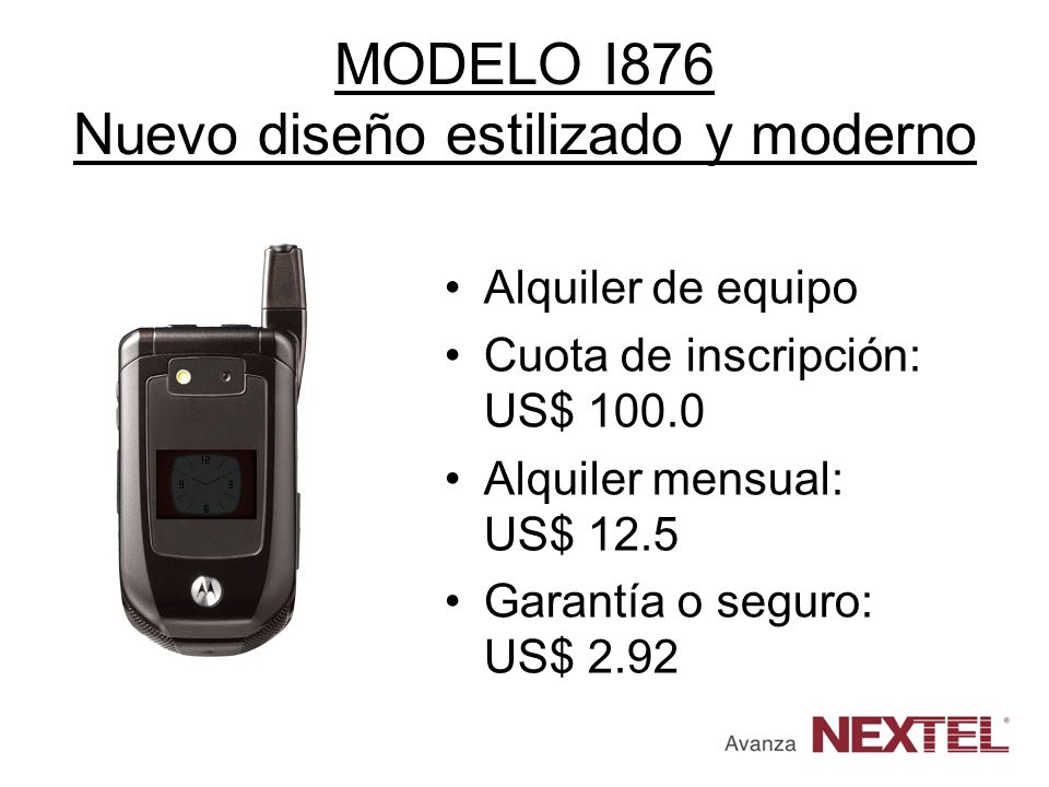 MODELO I876 Nuevo diseño estilizado y moderno
