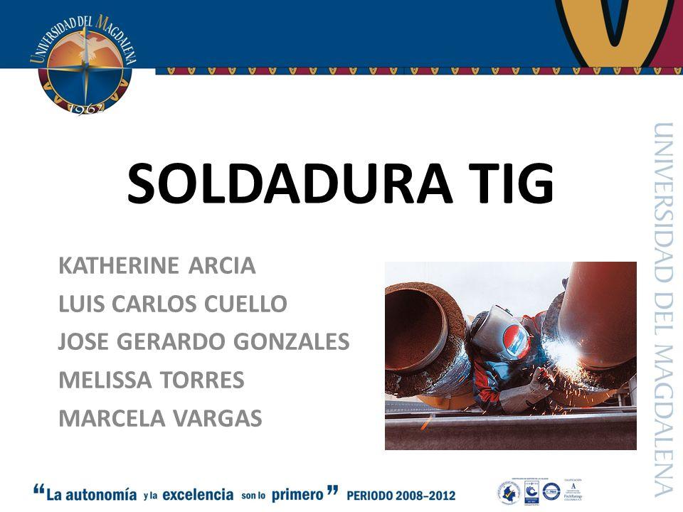 SOLDADURA TIG KATHERINE ARCIA LUIS CARLOS CUELLO JOSE GERARDO GONZALES