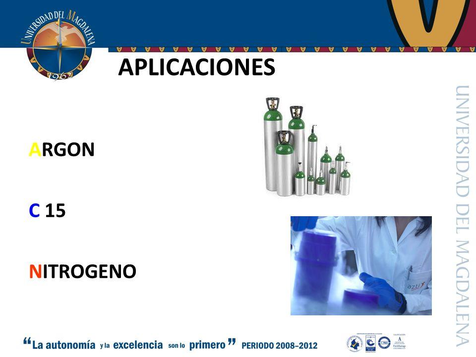 APLICACIONES ARGON C 15 NITROGENO