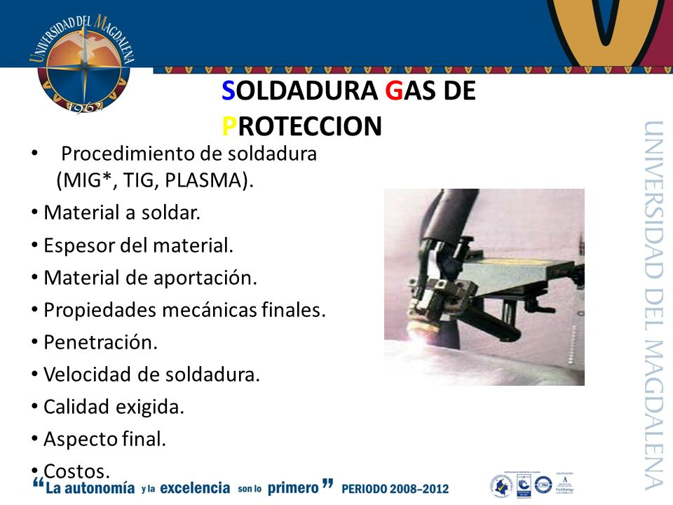 SOLDADURA GAS DE PROTECCION