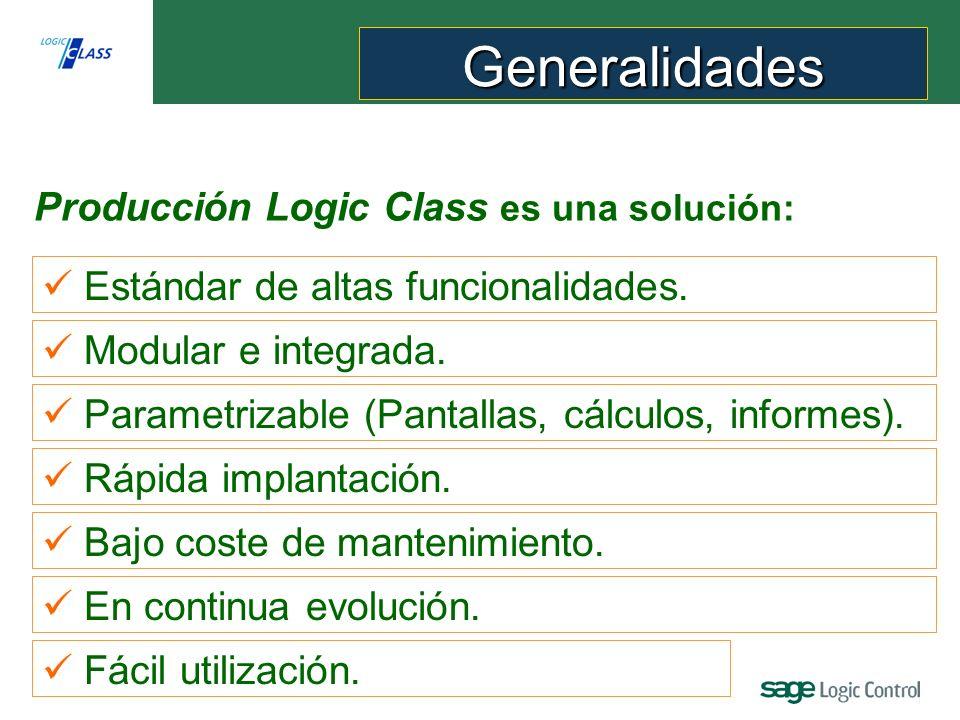 Generalidades Producción Logic Class es una solución: