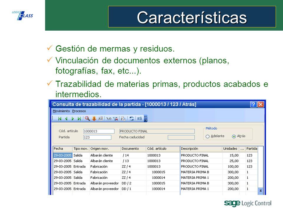 Características Producción Logic Class permite: