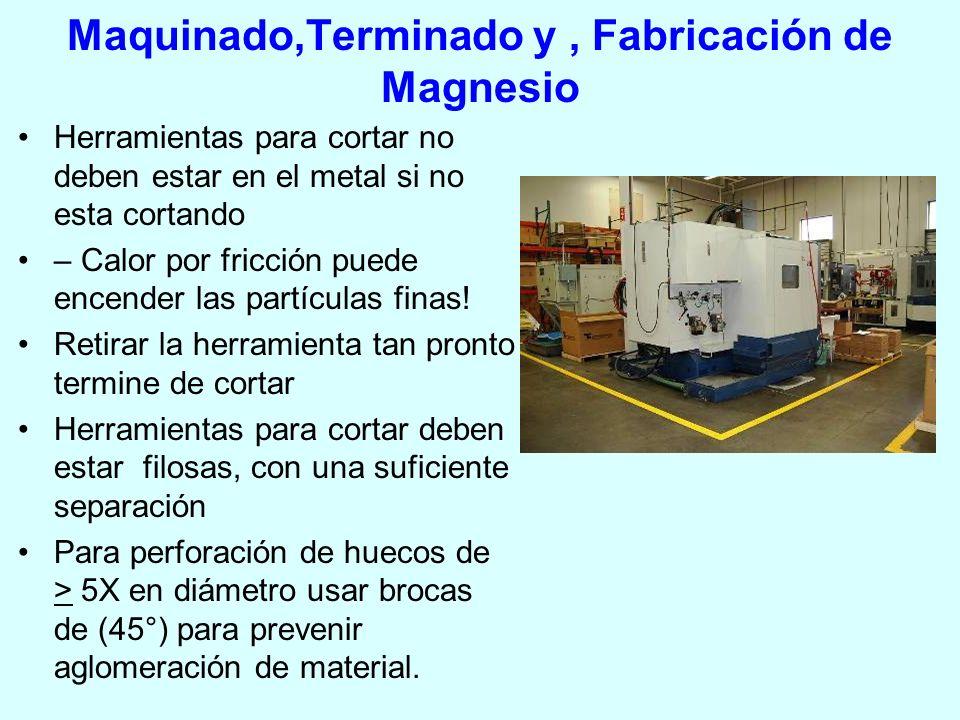 Maquinado,Terminado y , Fabricación de Magnesio